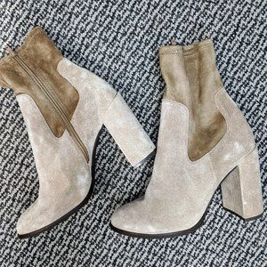 Chinese Laundry Heeled Suede Booties NWOT